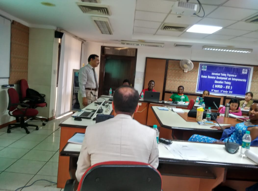 International Training at NIESBUD,Noida