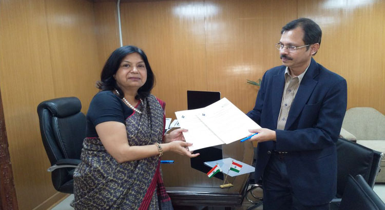 The Institute signs, MoU with EDII; Ahmedabad for undertaking collaborative activities aimed at development of entrepreneurial skills and education.