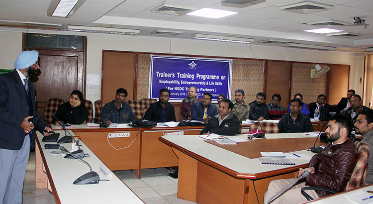 Trainers Training Programme on Employability, Entrepreneurship and Life skills