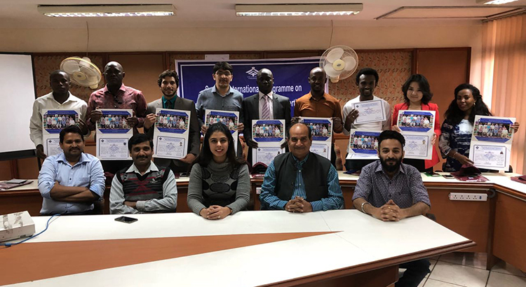 "Valediction ceremony of International Programme on ""Project Management Training and Certification"""