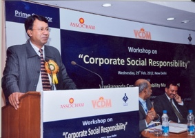 Niesbud director speak about Workshop on Corporate Social Responsibility